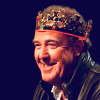penumbren: Jeremy Clarkson wearing a crown on QI (jezza crowned)