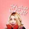 mochi: Who's afraid of the big bad wolf? (cute)