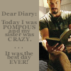 saavedra77: Dear Diary - Today I was pompous and my sister was crazy. It was the best day ever! (Firefly Jayne Diary Snark)