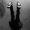 saavedra77: Sneakers and shadow in the rain (Sneaks shadow rain)