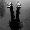 saavedra77: Sneakers and shadow in the rain (Sneaks shadow rain)