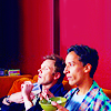 leanwellback: abed and jeff watching tv and eating cereal (comm- tv taught me how to feel)