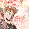 parsitive: Kent Parson looking happy and getting his hair ruffled. (happy floral 2)