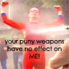 superartie: (puny weapons)