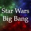 "swbigbang: White text on a red, green, and blue nebula background, ""Star Wars Big Bang"" (sw big bang)"