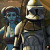 abrightshiningstar: Star Wars: The Clone Wars ][ Aayla Secura/Commander Bly (blyla)
