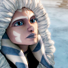 anaraine: Ahsoka Tano, dressed for the cold in a furlined coat, head tilted and looking up. ([star wars] of ice and snow)