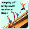 haldoor: Kaige and I like to jump off bridges one after the other; not always in the same order (johnny-haldoor)