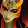 anindigomind: screenshot of true-form Midna from Hyrule Warriors (Twilight Princess)
