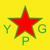 frandroid: YPG logo, Syrian Kurdish defense forces (great worm)