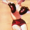 foxing_gloves: a topless woman with boxing gloves (Default)