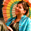 mekare: Firefly: happy Kaylee with a colourful umbrella (Kaylee)