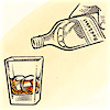 frandroid: Bottle pouring scotch in a glass (scotch)