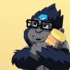 korp: winston hugging peanut butter (i love this)