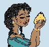 minoanmiss: Maiden holding a quince (Quince Maiden)