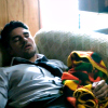 neverasked4this: actor DJ Cotrona (Passed out on the couch)