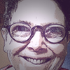 jesse_the_k: manipulated photo of white woman with glasses & big smile (JK happy 61)