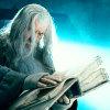 grundyscribbling: gandalf paging through the book in moria (tolkien -gandalf)