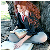 kimmieann: Hermione cosplayer reading books (Hermione)