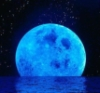 oceanandspace: a blue moon reflecting on the ocean (Default)