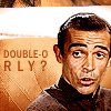 """grundyscribbling: Connery Bond, looking quizzical, caption """"double O RLY?"""" (bond - double o rlly?)"""