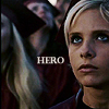 """grundyscribbling: Buffy, Becoming Part 2, sword in her hands, caption: """"Hero"""" (buffy - hero)"""