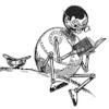 sheliak: Tik-Tok from the Oz books, reading a book. (reading, tik-tok)