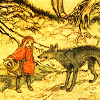 dawn_felagund: Little Red Riding Hood and the Big Bad Wolf. (little red riding hood)