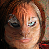 feng_shui_house: Photo merged woman's face with cat face making felinoid person (cat-marian)