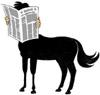 otherkinnews: A centaur reading a newspaper. (Default)