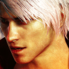 rebelseekspizza: (dante pb white: look down)