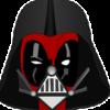 ianna42: Deadpool wearing part of Darth Vader's helmet (critical, Darth Vader, Darth Wader, Deadpool, disbelief, judging)