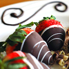 grundyscribbling: (food - chocolate covered strawberries)