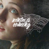 grundyscribbling: Sansa Stark, with wolf head sketch and caption 'Winter is coming' (asoiaf - sansa winter is coming)