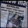 zarla: newspaper disparaging eiffel 65's musical prowess (eiffel65wooo)