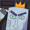 serpheat: this is my serious face (draw it on)