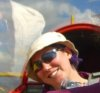 juliet: Me in the back seat of a glider, being flown by my friend Martin (flying)