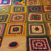 purplecat: A Crocheted Afghan Square Blanket (Crochet)