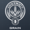 sebenikela: district 9 seal with grain (D9)