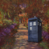 kaffyr: The TARDIS at Giverny (TARDIS at Giverny)