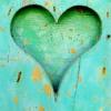 st_aurafina: green heart, grungey texture (Heart: green)