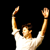 em_kellesvig: Joe Flanigan with arms raised (JFHappyArms)