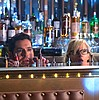 shapinglight: (Lucifer and Dr Linda behind the bar)