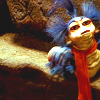 skygiants: cute blue muppet worm from Labyrinth (just a worm)