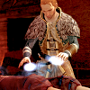 birdhousesoul: Anders is healing someone and his hands are glowy! (healing)