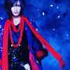 attie: Piko in a purple-blue robe and a bright red scarf. (utaite - piko sakurane)