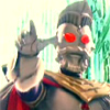 skygiants: shiny metal Ultraman with a Colonel Sanders beard and crown (yes minister)