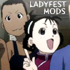 skygiants: Paninya and Mei from FMA, looking excitedly dorky, with text 'ladyfest mods' (ladyfest mods)