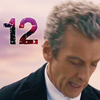 kerravonsen: Twelfth Doctor looking down, with the number 12 in the top left corner (Doc12)
