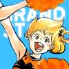 gionkenji: yachi cheering on grandstand (yachi)